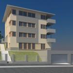 Studie novostavby bytového domu, variantně přestavby stávající městské vily, 2008
